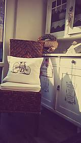- Retro bicykel \ obliečka + vankúšik - 5640205_