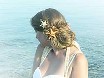 Ozdoby do vlasov - Sea-Flower orange - 5640935_