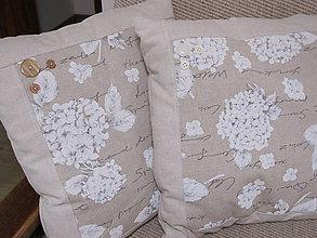 Úžitkový textil - Vankúš- hortenzia - 5641905_