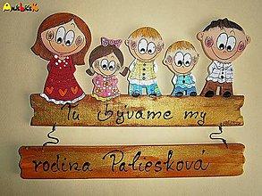 Tabuľky - Menovka - rodinka - 5641222_