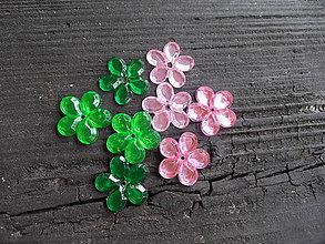 Korálky - Plastová kvetinka,25mm - 5642284_