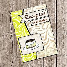 Papiernictvo - Vintage receptár - krémeš - 5640136_
