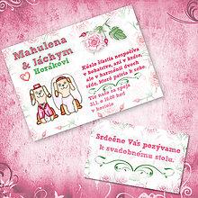 Papiernictvo - Zvieracia svadba - svadobné oznámenie a svadobné pozvánky - 5642106_
