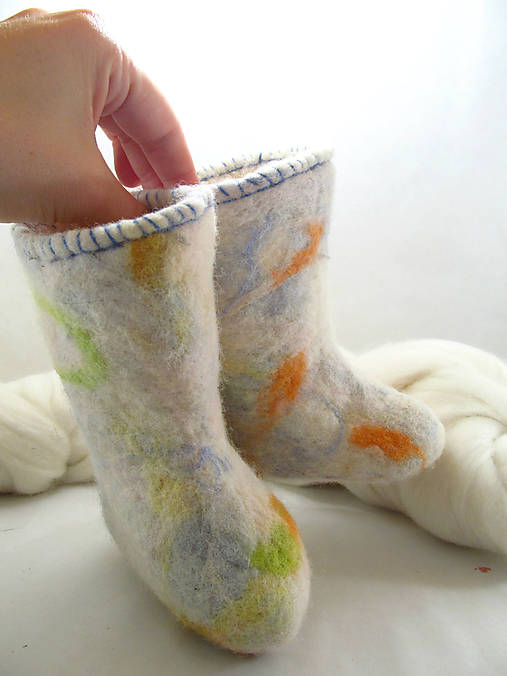 052b0662faad Vlnené topánočky pre najmenších - Zľava 5 Eur   NatureLove - SAShE ...