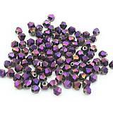 Bicone - Violette Foil /4mm/ 10ks