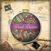 Papiernictvo - Vianočná guľa ako pohľadnica ornamentová 2 - 5643832_