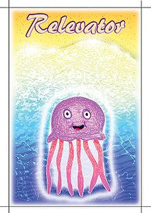Detské doplnky - Linajková podložka Morský svet s vlastným menom (medúza) - 5644317_