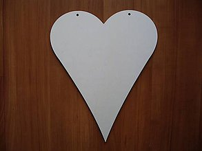 Polotovary - Srdce 25 x 20 cm - 5646097_