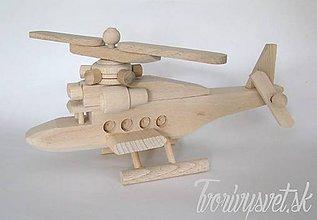 Hračky - Drevená helikoptéra - 5646234_
