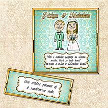 Papiernictvo - Zlaté svadobné oznámenie - 5644527_