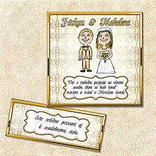 Papiernictvo - Luxusné svadobné oznámenie biele - 5644545_