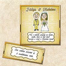 Papiernictvo - Luxusné svadobné oznámenie žlté - 5644551_