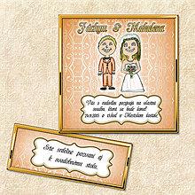 Papiernictvo - Zlaté svadobné oznámenie (oranžové) - 5644552_
