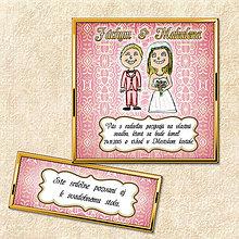 Papiernictvo - Luxusné svadobné oznámenie ružové - 5644554_