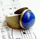 Lapis Lazuli Classic / Prsteň s lazuritom v bronzovom prevedení