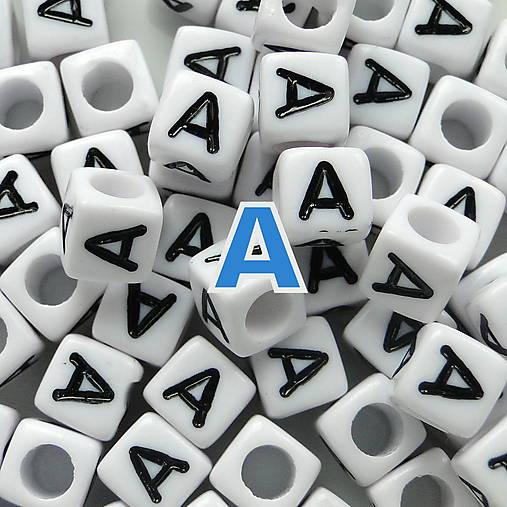 Písmenká-kocka plast 6mm-1ks