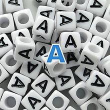 Korálky - Písmenká-kocka plast 6mm-1ks - 5647993_