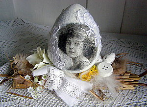 Dekorácie - nostalgické vajíčko 2 - 5649494_