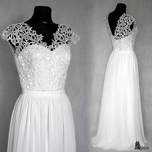 Svadobné šaty z hrubej krajky s holým chrbátom   Dyona - SAShE.sk ... 8d35a017f14
