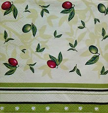 Papier - servítka s olivkami - 5648672_