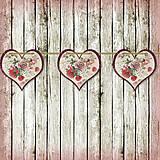 Tabuľky - Romantická srdiečková girlanda na svadbu 12 - 5648132_