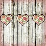 Tabuľky - Romantická srdiečková girlanda na svadbu 13 - 5648136_