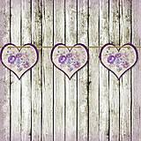 Tabuľky - Romantická srdiečková girlanda na svadbu 15 - 5648146_