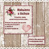 Papiernictvo - Svadobné oznámenie Vintage love 1 - 5649593_