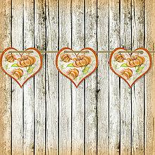 Tabuľky - Romantická srdiečková girlanda na svadbu 1 - 5647341_