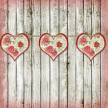 Tabuľky - Romantická srdiečková girlanda na svadbu 2 - 5648103_
