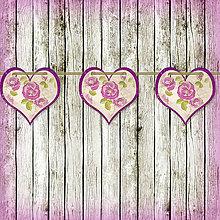 Tabuľky - Romantická srdiečková girlanda na svadbu 3 - 5648106_