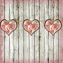 Tabuľky - Romantická srdiečková girlanda na svadbu 4 - 5648107_