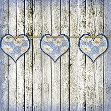 Tabuľky - Romantická srdiečková girlanda na svadbu 5 - 5648108_