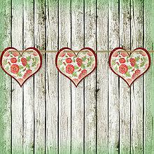 Tabuľky - Romantická srdiečková girlanda na svadbu 6 - 5648110_