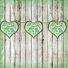 Tabuľky - Romantická srdiečková girlanda na svadbu 7 - 5648112_