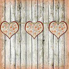 Tabuľky - Romantická srdiečková girlanda na svadbu (8) - 5648114_