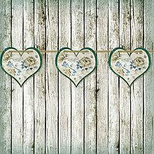 Tabuľky - Romantická srdiečková girlanda na svadbu 9 - 5648115_