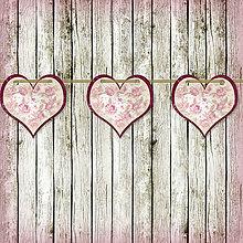 Tabuľky - Romantická srdiečková girlanda na svadbu 10 - 5648118_