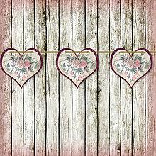 Tabuľky - Romantická srdiečková girlanda na svadbu 11 - 5648128_