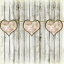 Tabuľky - Romantická srdiečková girlanda na svadbu 16 - 5648147_