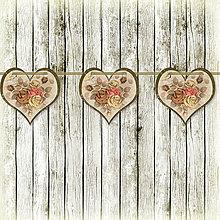 Tabuľky - Romantická srdiečková girlanda na svadbu 17 - 5648148_