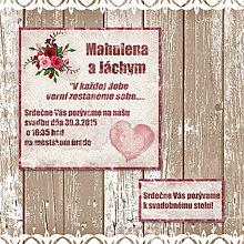 Papiernictvo - Svadobné oznámenie Vintage love - 5649593_