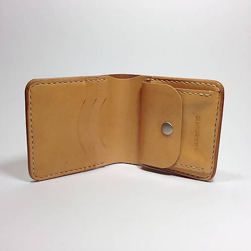Pánska kožená peňaženka (Ručné šitie)