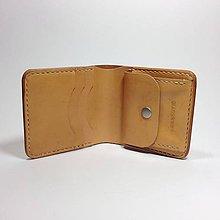 Tašky - Pánska kožená peňaženka (Ručné šitie) - 5652565_