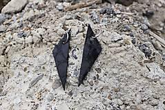 Náušnice - Náušnice Black Texture - 5652411_