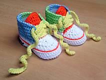 Topánočky - Háčkované tenisky - 5650486_