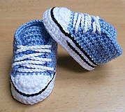 Topánočky - Háčkované tenisky - 5650490_
