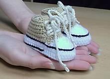 Topánočky - Háčkované tenisky - 5650494_