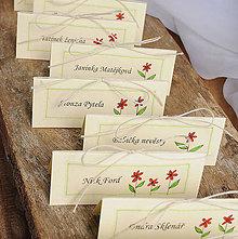 Papiernictvo - LITTLE FLOWERS menovky na stôl - 5652886_