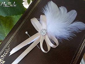 Pierka - svadobné pierko pre rodičov v latté - 5652477_